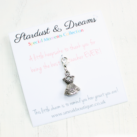 Best Teacher Ever Keepsake Dress Charm