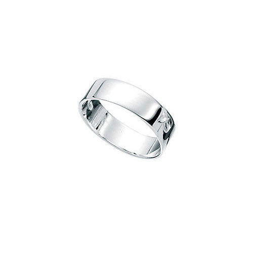Square Cut Silver Boys Ring 5mm