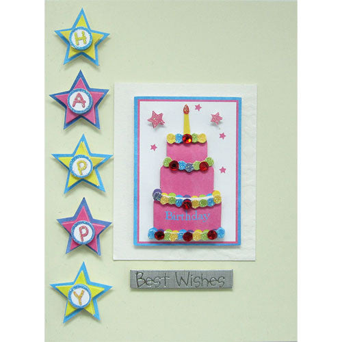Tiered Cake Handmade Birthday Card