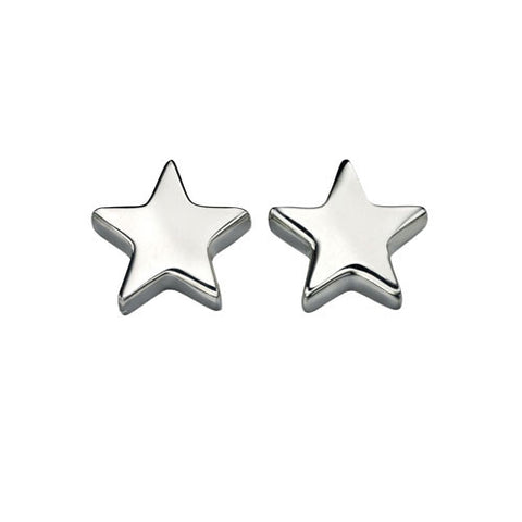 Single Star Sterling Silver Earrings