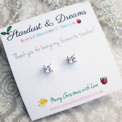 Star Teacher Stud Earrings