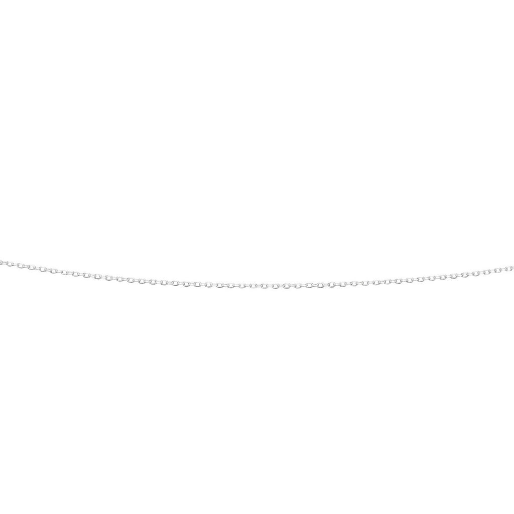 Sterling Silver Diamond Cut Oval Link Belcher chain 16 inch
