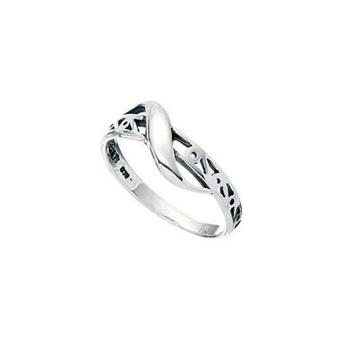 Sterling Silver Swirl Filigree Kids Ring