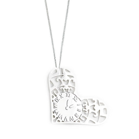 Time Spent With You Silver Plated Pendant