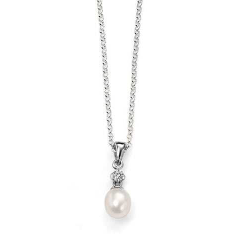 Tiny Teardrop White Pearl Pendant