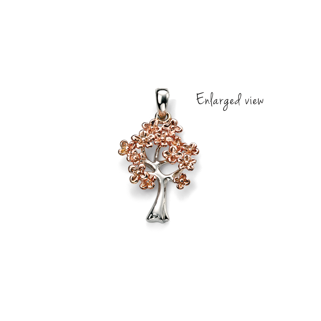 Circle Pendant with Birthstones SADNESS N Customize Name Necklace Tree of Life Pattern