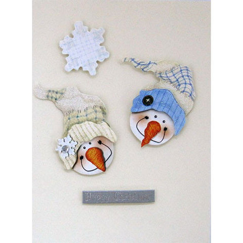 Two Snowmen Handmade Christmas Card
