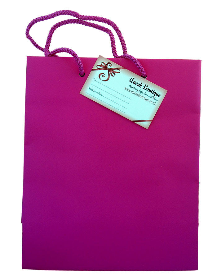 Large Hot Matt Pink Gift Bag
