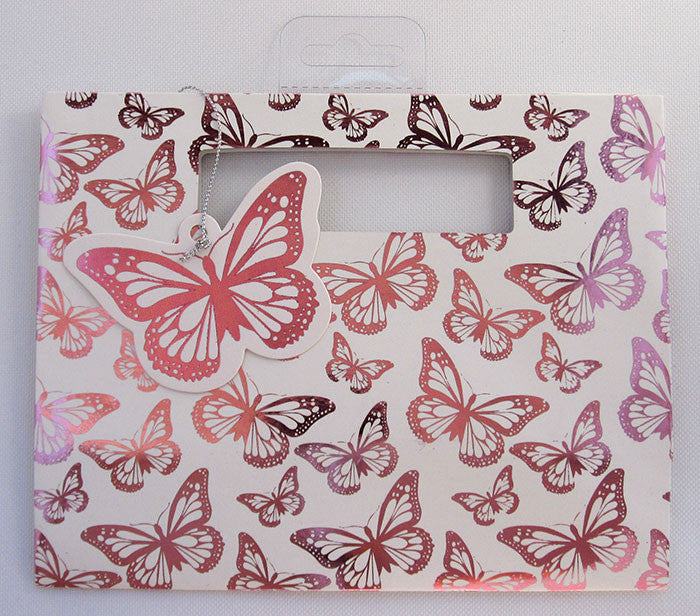 Small Metallic Pink Butterfly Gift Bag