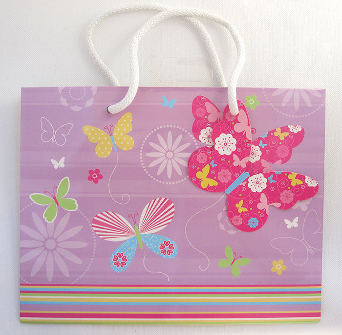 Medium Lilac Butterfly Gift Bag