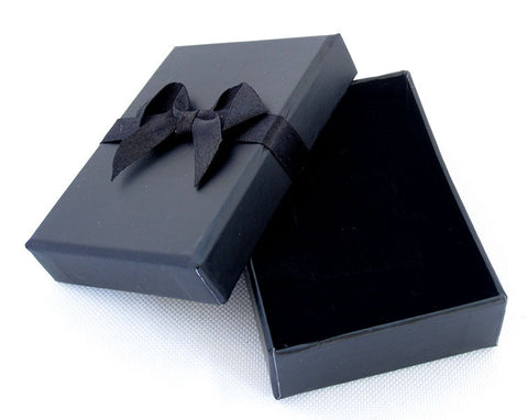 Black Bow Earring and Pendant Box