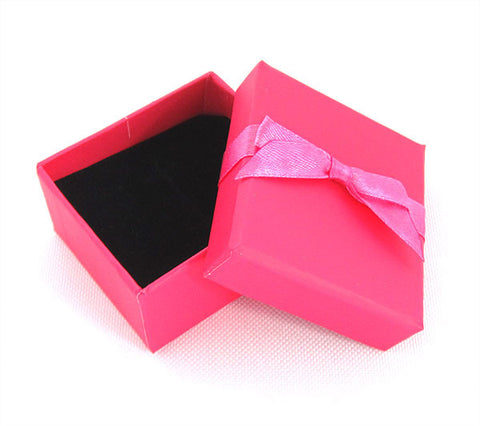 Hot Pink Bow Ring Box