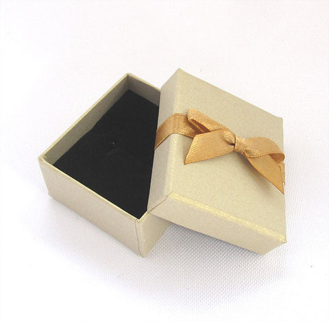 Gold Bow Ring Box