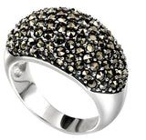 Domed Marcasite Ring in Sterling Silver