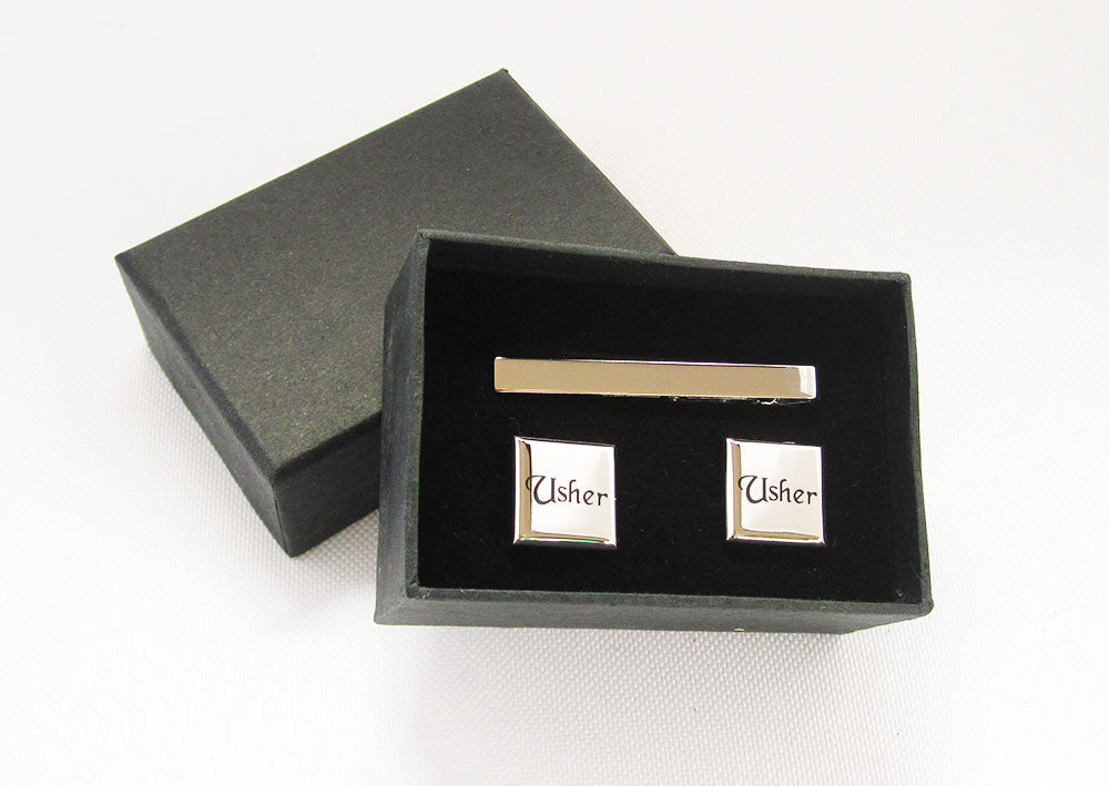 Usher Cufflinks and Tie Pin Set