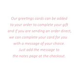 Personalise your card