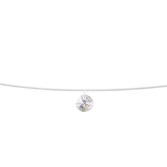 White Patina Crystal Xilion Sterling Silver Anklet