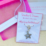 Will You be my Chief Bridesmaid Star Clip Charm