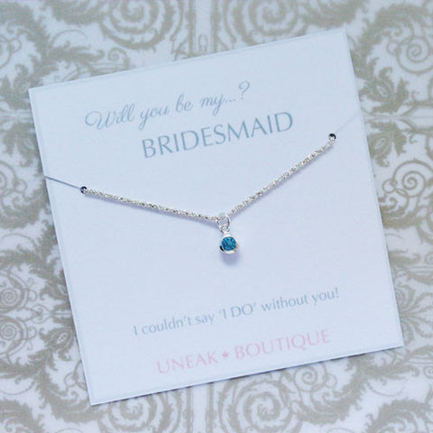 Will You be my Bridesmaid Silver Bracelet
