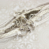 Wings of Love Leather Strands Bracelet