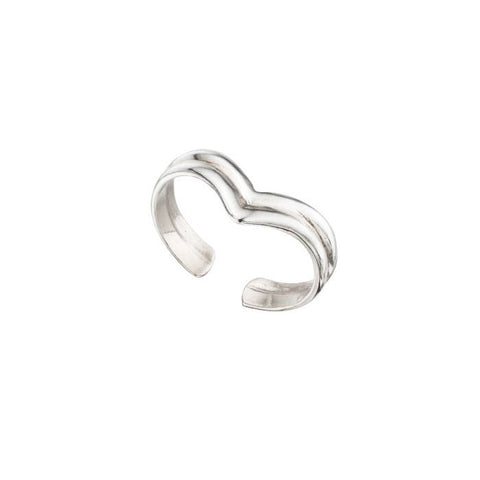 Wish Bone Sterling Silver Toe Ring