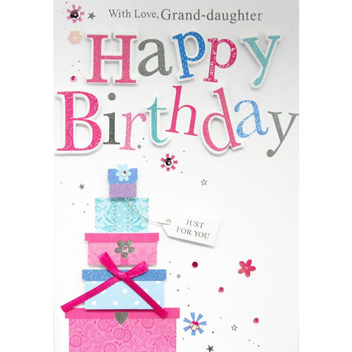 Handmade Granddaughter Birthday Card