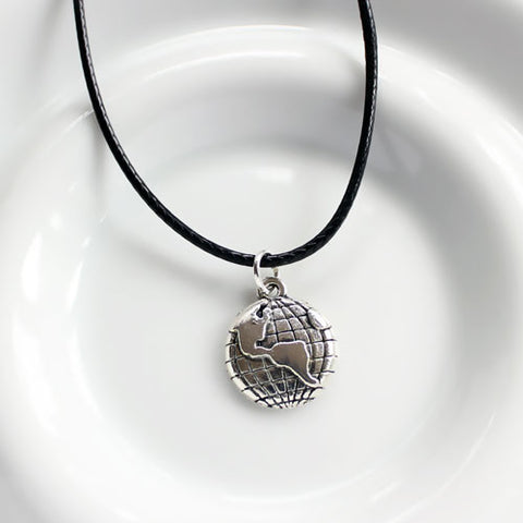 World Traveller Silver Pendant
