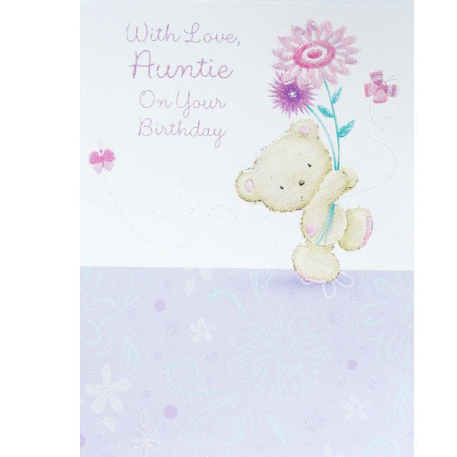 Teddy Bear Auntie Birthday Card