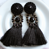 Bolero Black Tassel Earrings