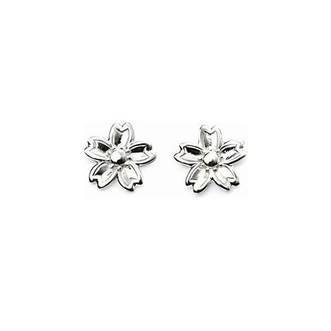 Cherry Blossom Sterling Silver Earrings