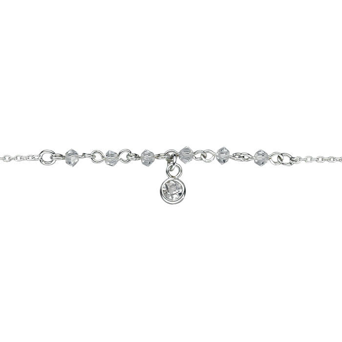 Buy Sarina Silver Anklet With Clear Crystal 163 19 99 Uneak