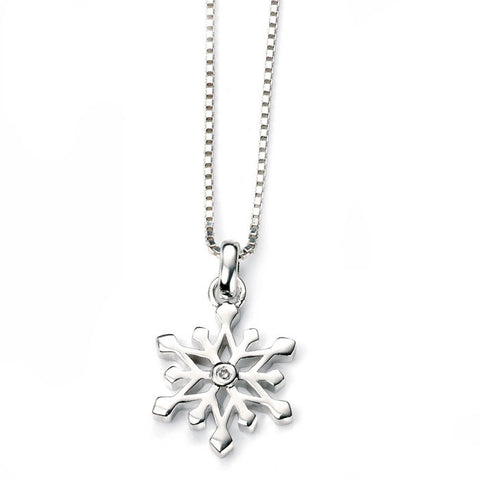Snowflake D for diamond Pendant