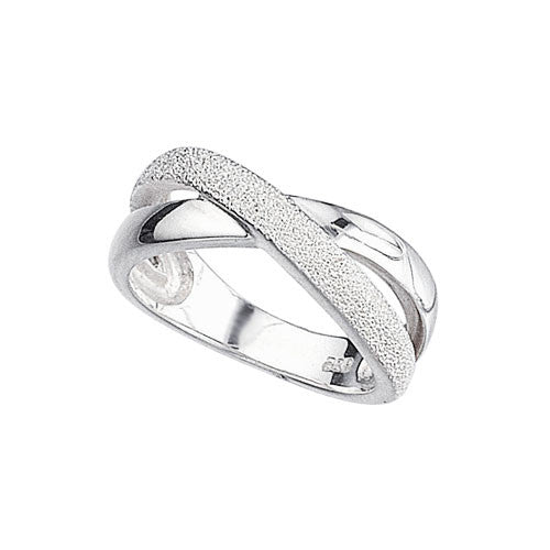 Diamond Cut Infinity Kiss Ring