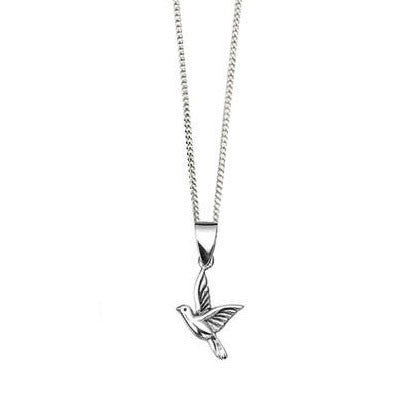 Flying Bird Sterling Silver Pendant