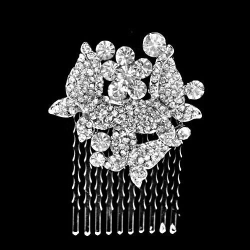 Crystal Butterfly Wedding Hair Comb