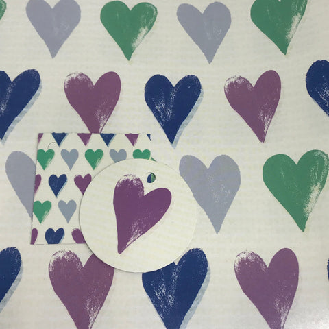 Pointed Hearts Craft Paper Gift Wrap