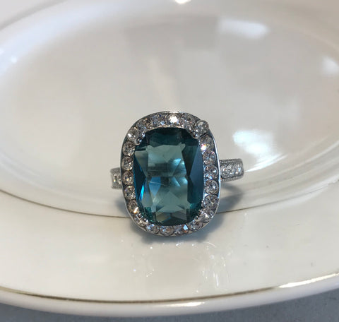 Regal Blue Empress Cocktail Ring
