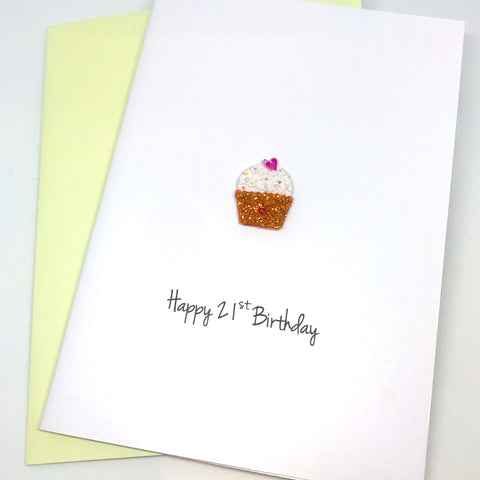 Cupcake 21st Birthday Card