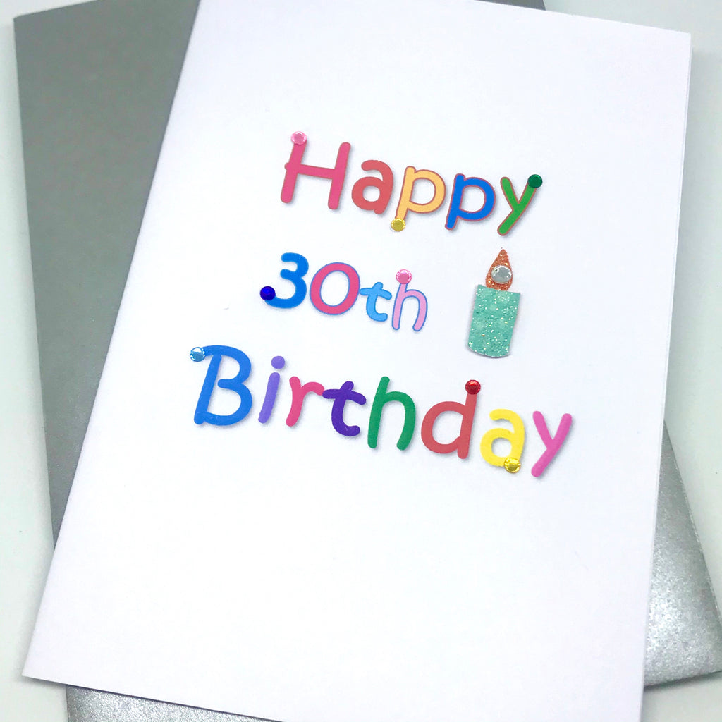 30th Birthday Candle Handmade Card