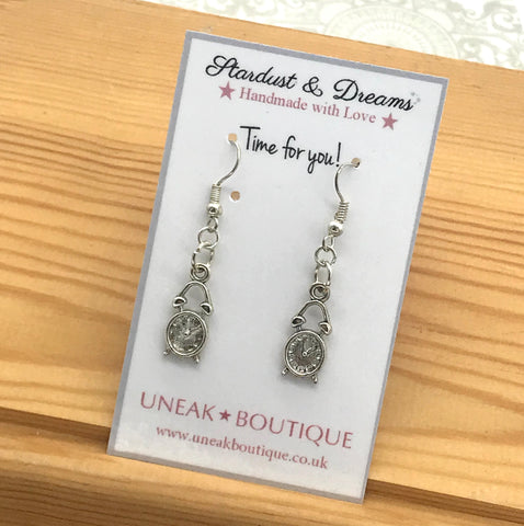 Time for You Clock Earrings