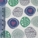 Scribble Heart Craft Paper Gift Wrap