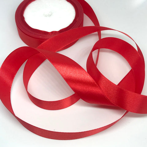 Warm Red Satin Ribbon 20mm
