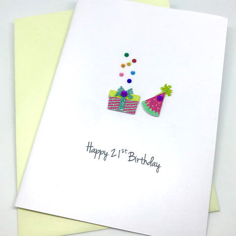 Party Time 21st Birthday Card