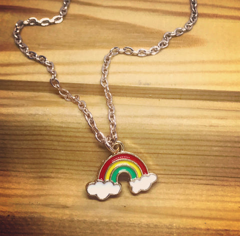 A rainbow of hope pendant