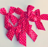 Red and White Spotty Bows