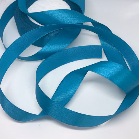 Teal Satin Ribbon 20mm