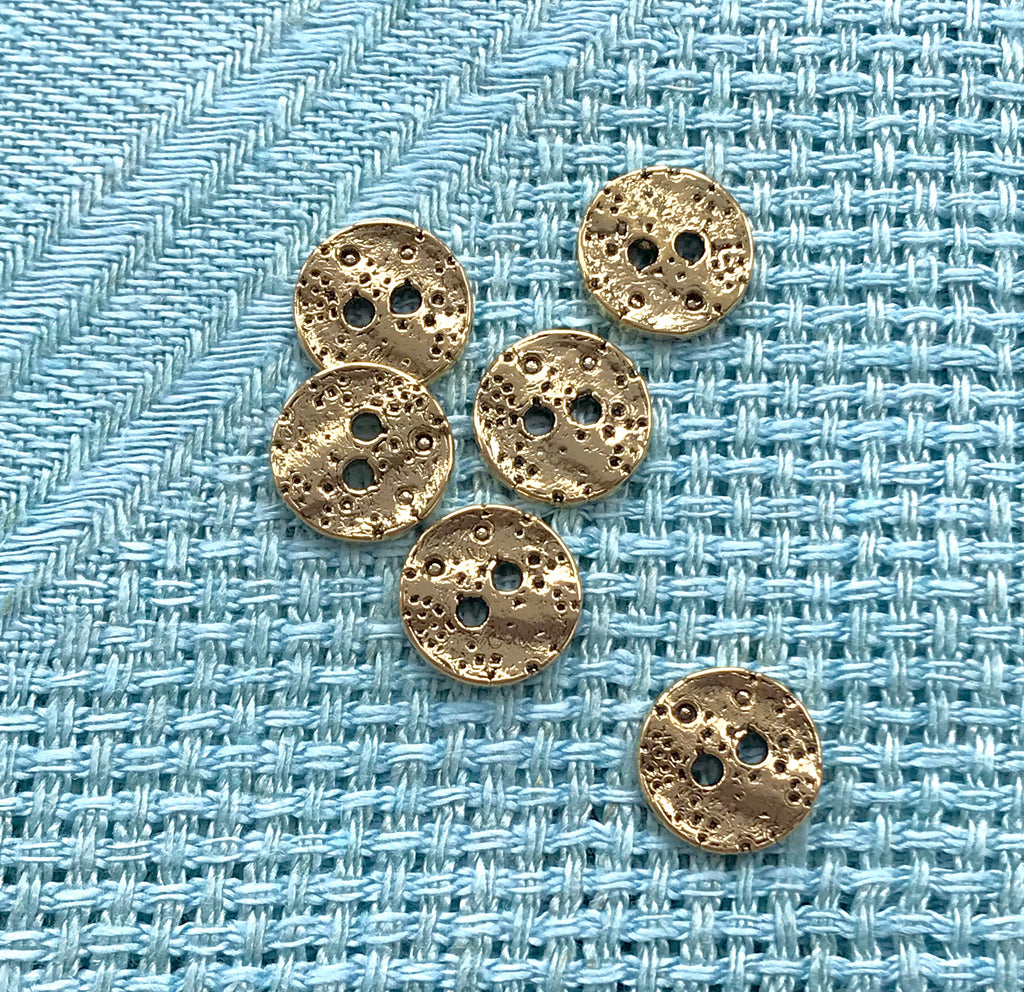 Vintage Gold Coin Treasure Buttons
