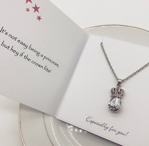 It's Not Easy Being a Princess Silver Plated Pendant