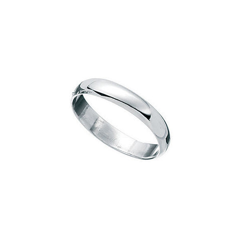 Plain D Band Kids Silver Ring