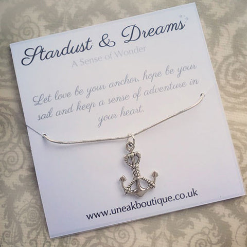 Let Love Be Your Anchor Silver Pendant